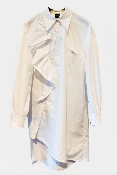 ANNAKIKI  -  Asymmetric Placket Dress