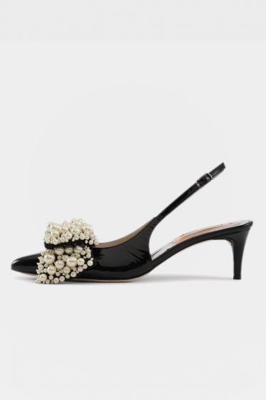 CUSTOMMADE   -  Alima Pearl Cool Black Sandal