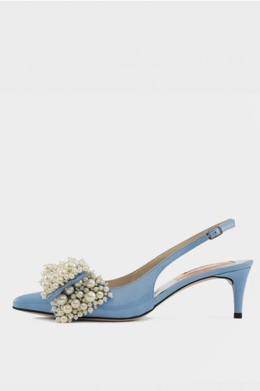 CUSTOMMADE   -  Alima Pearl Cool Blue Sandal
