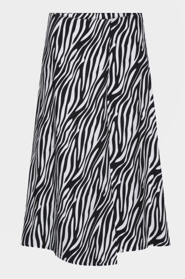 CUSTOMMADE   -  Roslin Zebra Printed Skirt