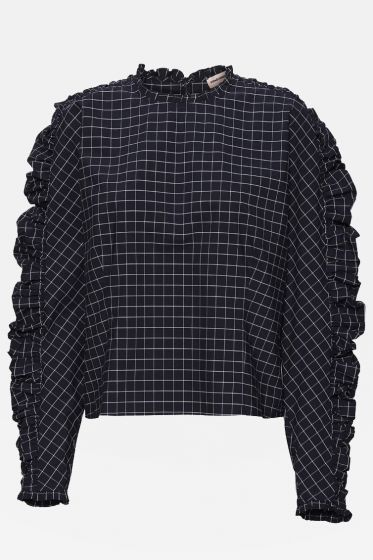 CUSTOMMADE   -  Dolly Checked Top