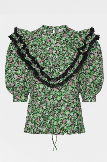 CUSTOMMADE  - Violea Printed Organic Cotton Top
