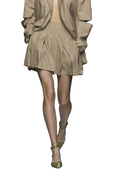ANNAKIKI  -  Pleated Skirt