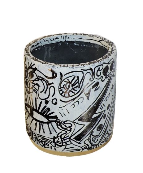 "ESPEJTO  -  Tribute to ""Haring "" Vase"