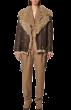 ANNAKIKI -  Leather Jacket With Fur