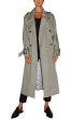 ANNAKIKI - Long Sleeves Cotton Trench Coat