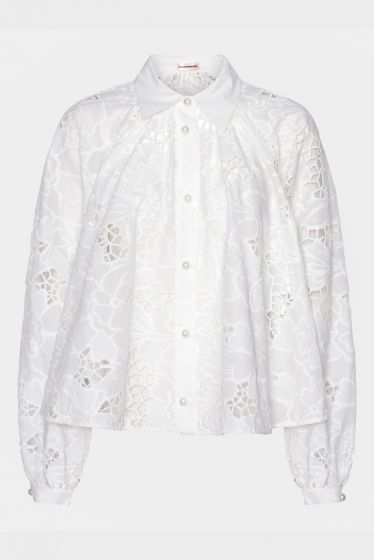 CUSTOMMADE   -  Betsy  Embroidered Lace Top