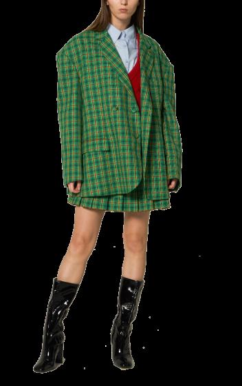 ANNAKIKI -   Oversized Check Jacket