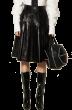 ANNAKIKI -     Leather Pleated Skirt