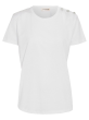 CUSTOMMADE   - Molly Crystal White T Shirt