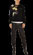 CHRIS  -  Preciuos Hand Made & Painted Black Sweatshirt