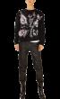 CHRIS  -  Precious Hand Made & Painted Black 2 Sweatshirt
