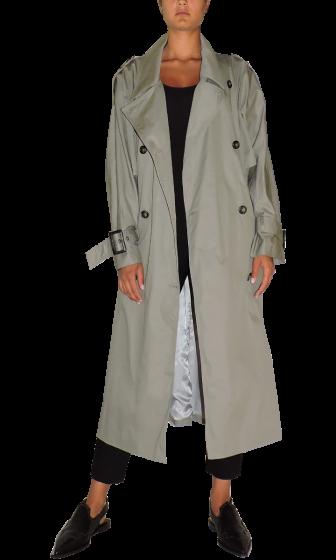 ANNAKIKI - Long Sleeves Cotton Trench Coat