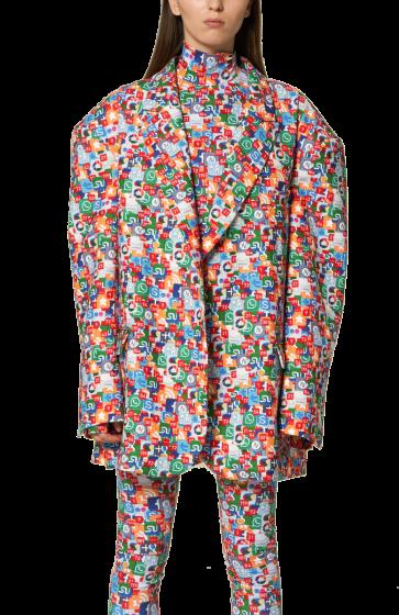 ANNAKIKI -   Printed Oversized Jacket