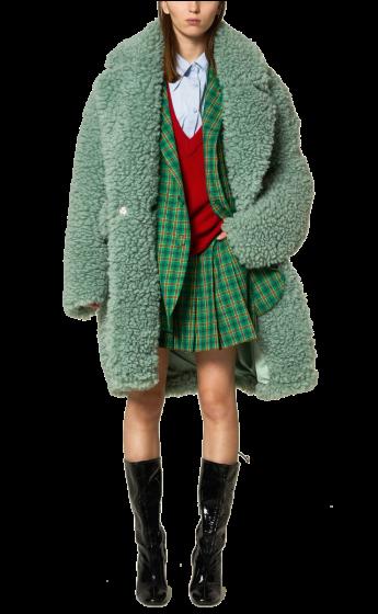 ANNAKIKI -    Loose Faux Fur Coat