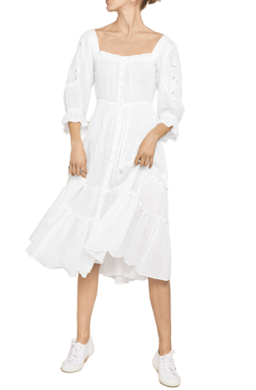 By TIMO -  Sunday Morning Midi Dress White